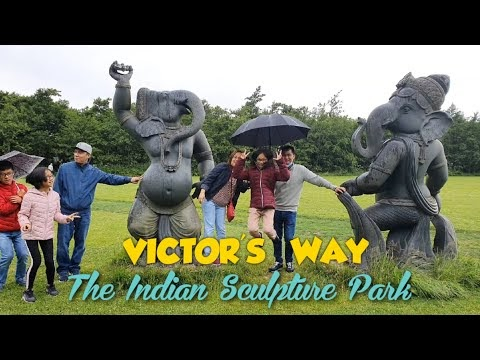 A HIDDEN GEM OF INDIAN SCULPTURE IN COUNTY WICKLOW IRELAND - THE VICTOR'S WAY
