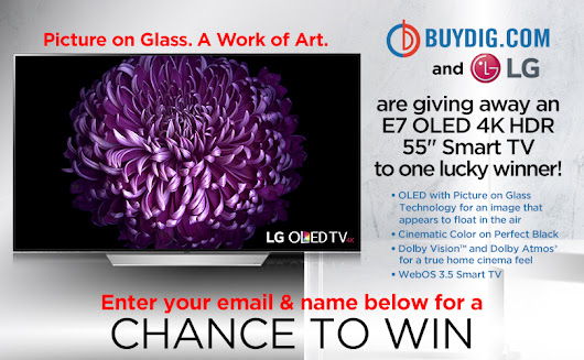 LG E7 OLED 4K HDR Smart TV Giveaway