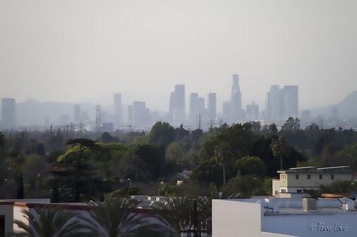 LA hazy skyline