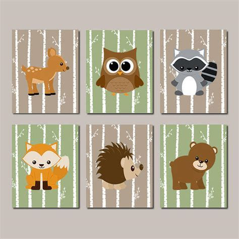 WOODLAND Nursery, Woodland Animals WALL from