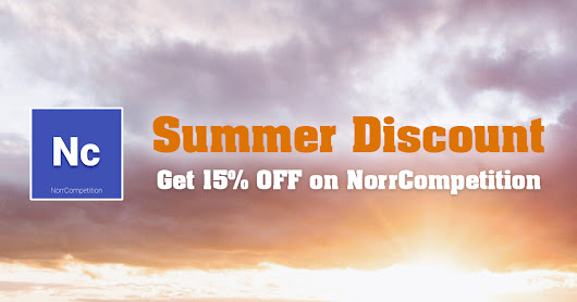 Summer Sale 2018: Get 15% OFF on NorrCompetition! Discounts from partners