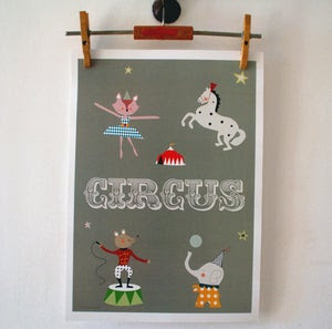 Image of Lámina Circus o El el Elefante print
