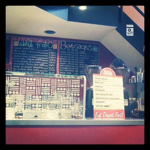 Ordering counter at WaffleFrolic #Ithaca