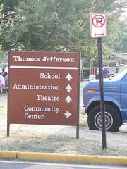 Sign, Thomas Jefferson Middle School & Community Center