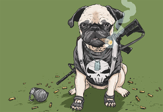 josh lynch illustrates dogs of the marvel universe