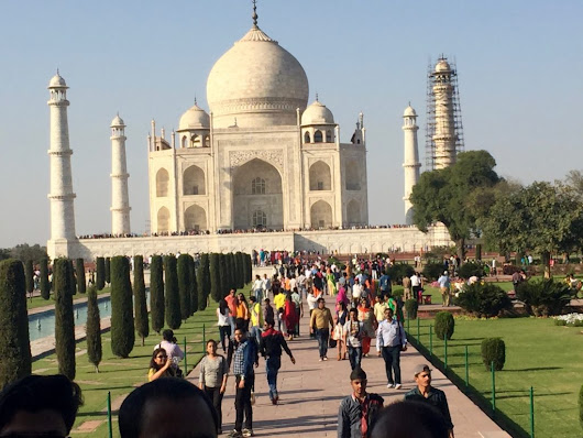 Enjoy an India Passenger Train When Visiting the Taj Mahal