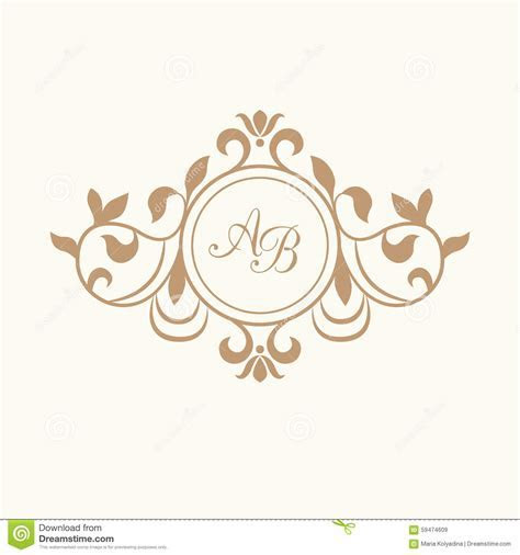 Monogram stock image. Image of banner, elegance