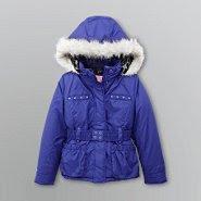 Weather Tamer Girl's Winter Puffer Coat - Faux Fur Trim at Kmart.com