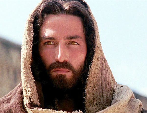 "Actor Jim Caviezel portraying Jesus in ""The Passion of the Christ."""