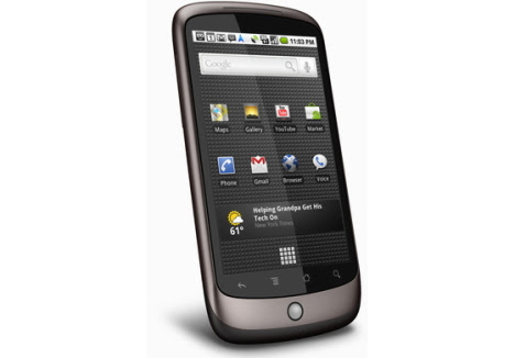 nexus one 10 Best Android Cell Phones in 2011