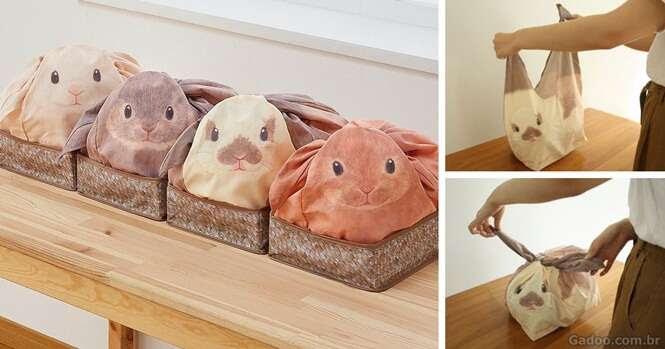 Sacos criativos transformam sua bagunça em fofos coelhos