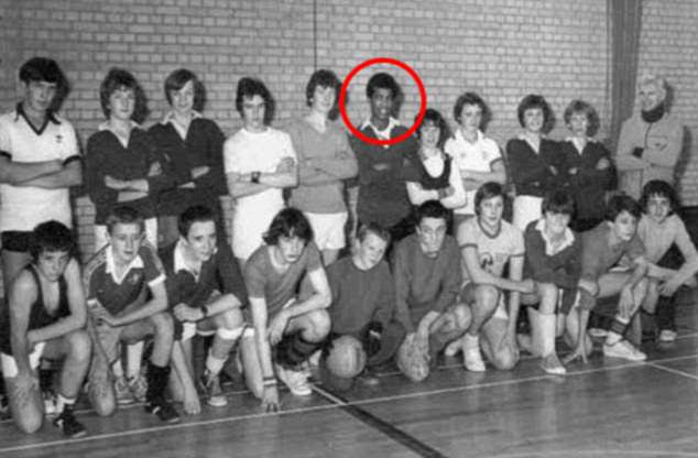 This photograph of Ajao was of the Huntleys Secondary School for Boys football team in around 1979 or 1980 when he was 15 or 16 years old during a 24-hour charity event