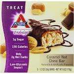 Atkins Endulge Chew Bar, Caramel Nut - 5 pack, 1 oz packs