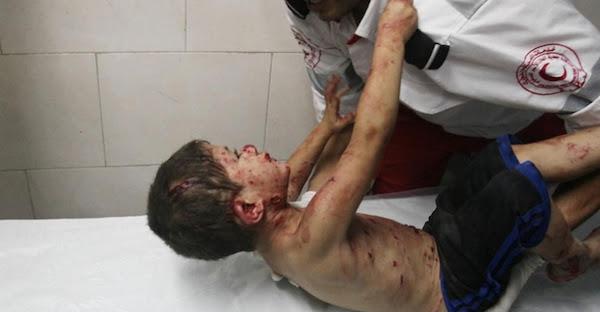 criança palestina gaza