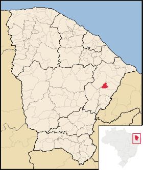 Localização de São João do Jaguaribe
