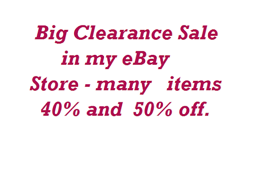 Clearance Sale in CharmCrazeys eBay Store - 50% Off
