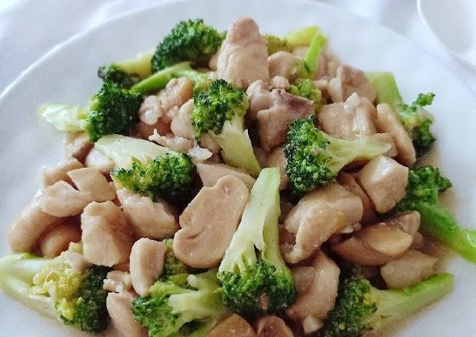 Resep Memasak Brokoli Tumis Ayam Jamur Bikin Nagih