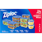 Ziploc Containers & Lids, Variety Pack - 24 pieces