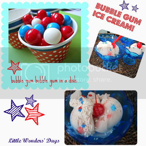 bubble gum ice cream, memorial day, fourth of july, July 4th