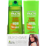 Garnier Fructis Sleek & Shine Shampoo & Conditioner 2 Pack, Frizzy, Dry, Unmanageable Hair