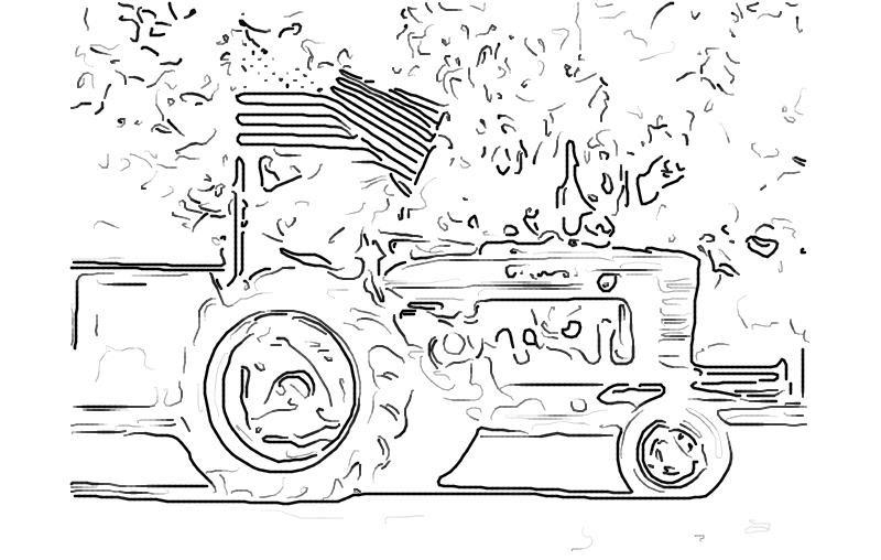 Mewarna08: Kleurplaat Tractor Caze