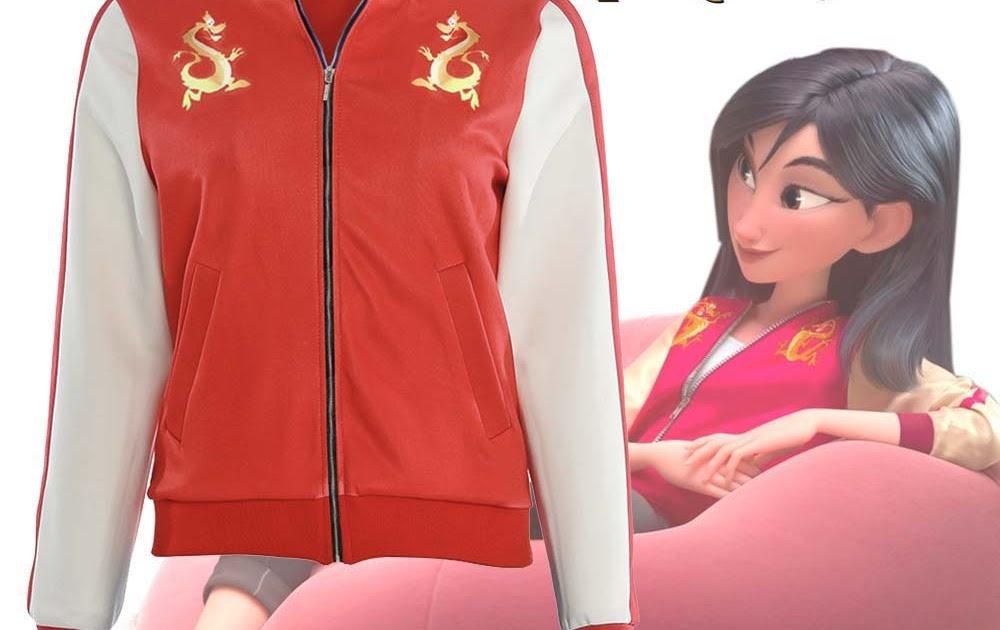 Ralph Breaks the Internet Wreck-It Ralph 2 Mulan Mushu Dragon Jacket Coat Top