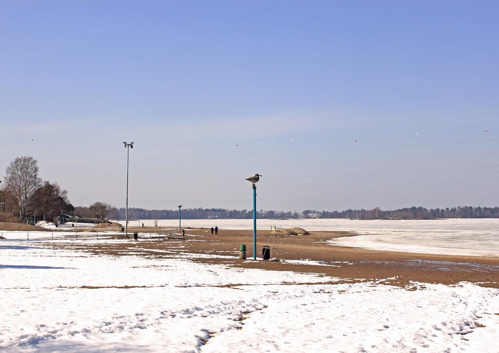 La playa en abril