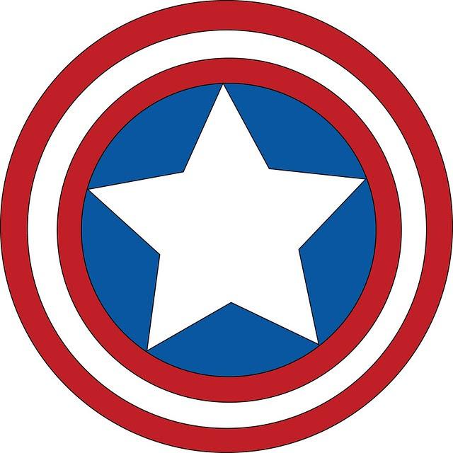 Plantilla de emblema de. Capitán América.