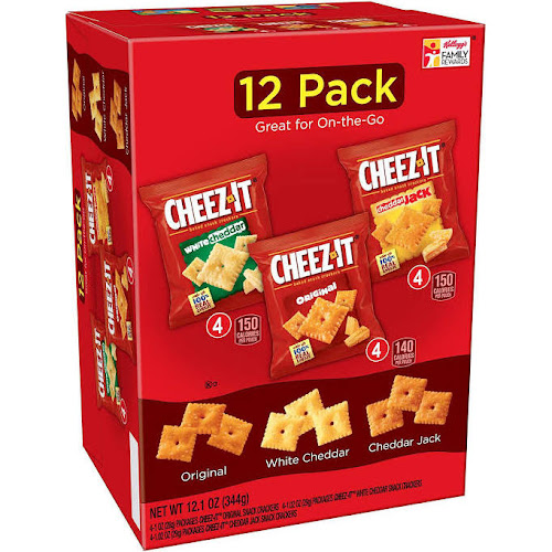 Cheez-It Baked Snack Crackers Variety Pack - 12 pack, 12.1 oz box