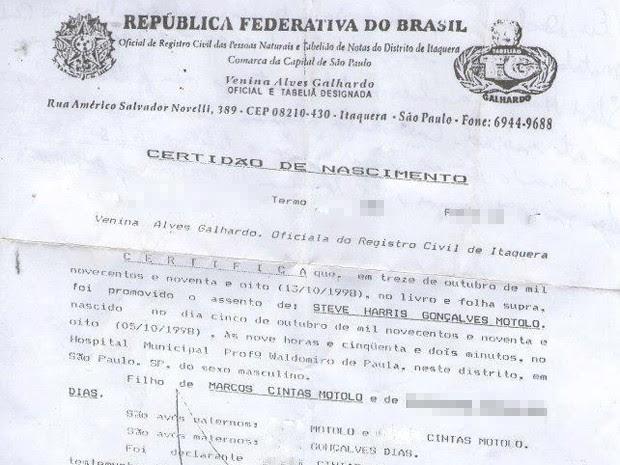 Marcos Motolo registrou o filho com nome do baixista do Iron maiden, Steve Harris (Foto: Reprodução / TV Globo)
