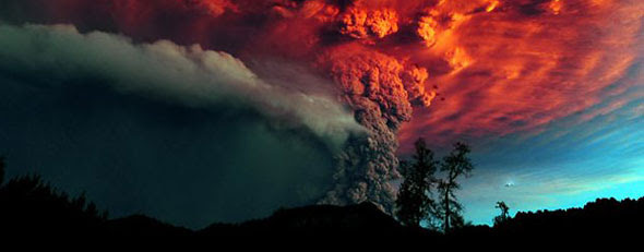 'Super-volcanoes' portend the world's end. Here, a volcano erupts. (ABC News)