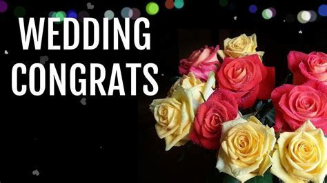 Wedding wishes for couples, congratulations message for