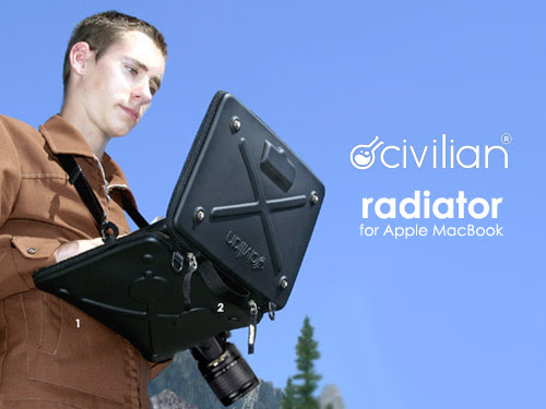 Civilian Lab Radiator MacBook 專用多工硬殼保護袋