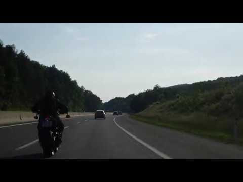 Motorcycle Riding On The Highway