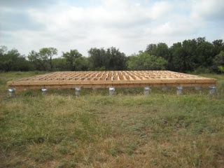 Full Picture of Completed Floor Joists Facing South