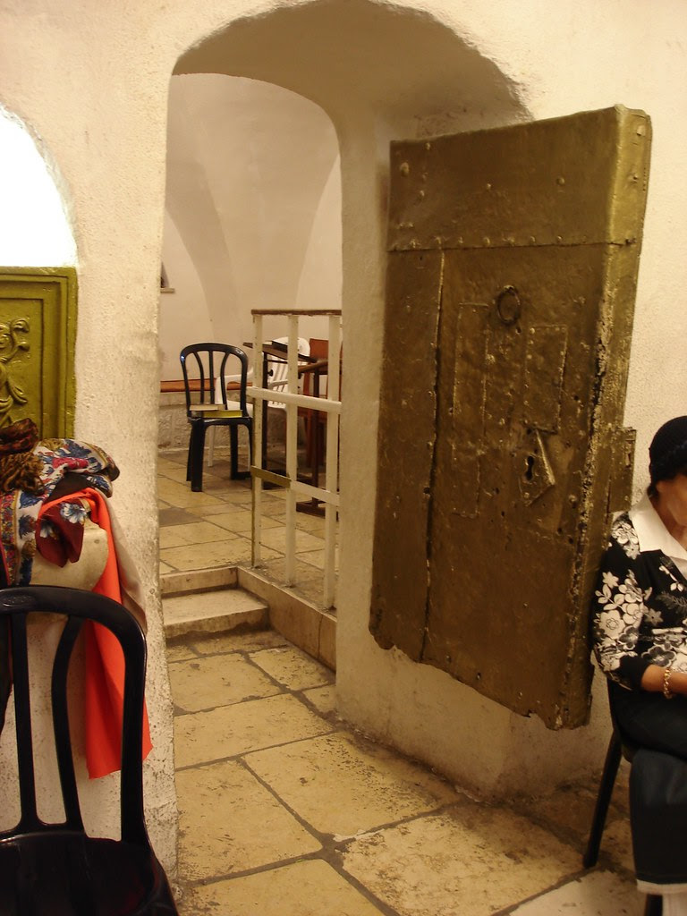 View from the women's prayer area, Rachel's Tomb