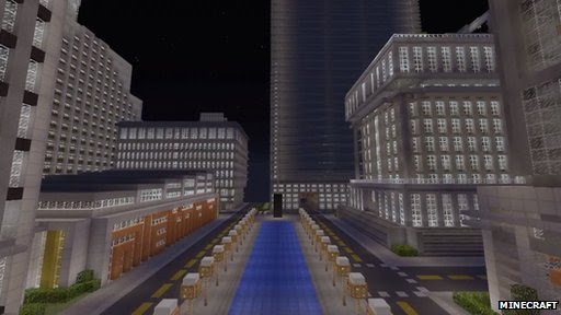 BBC News - Minecraft player spends two years building virtual city