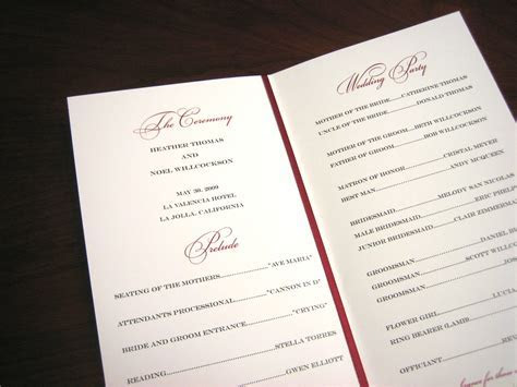 Ceremony Programs   A Vibrant Wedding Web Blog