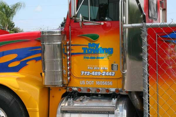 Semi Truck Signs Wraps Graphics And Letter In Port St Lucie Fl