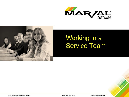 Working in service team