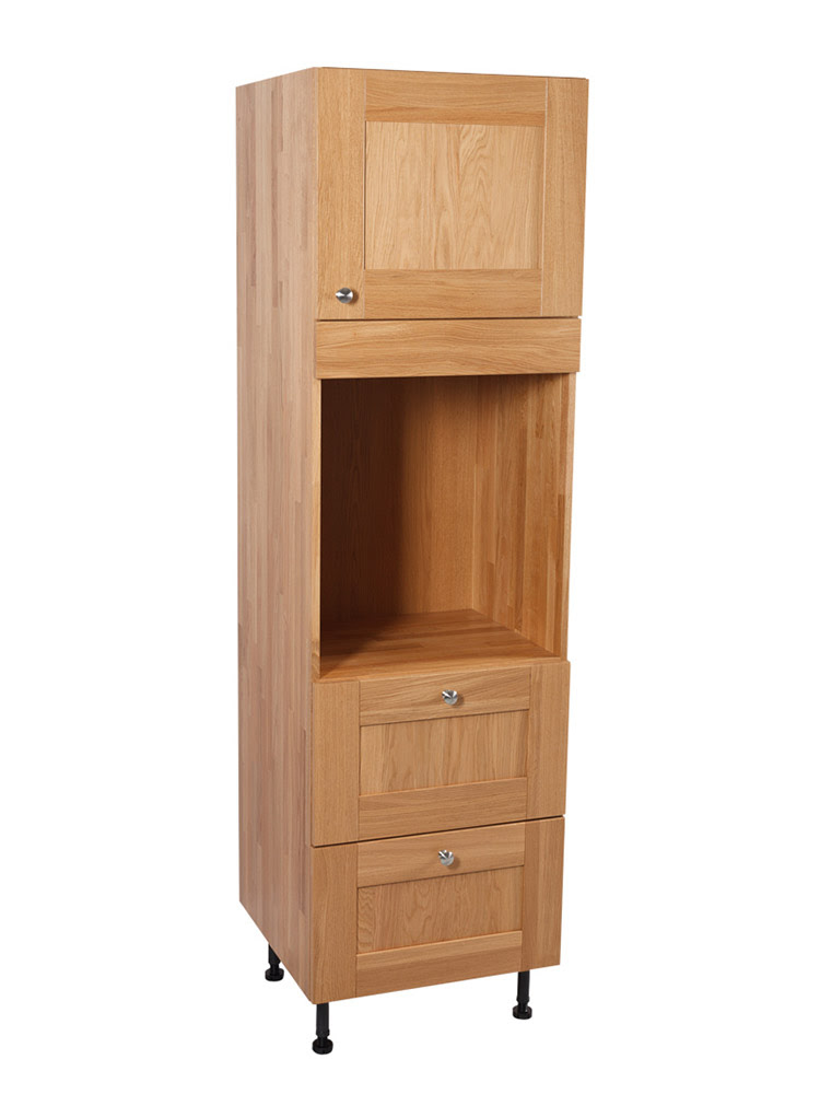 Solid Oak Kitchen Full Height Single Oven Cabinet ...