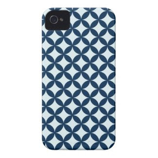 Modern {navy} Pattern Iphone 4 Cover