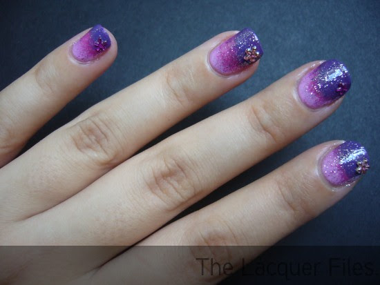 Nail Art Design Gradient Nails Pink