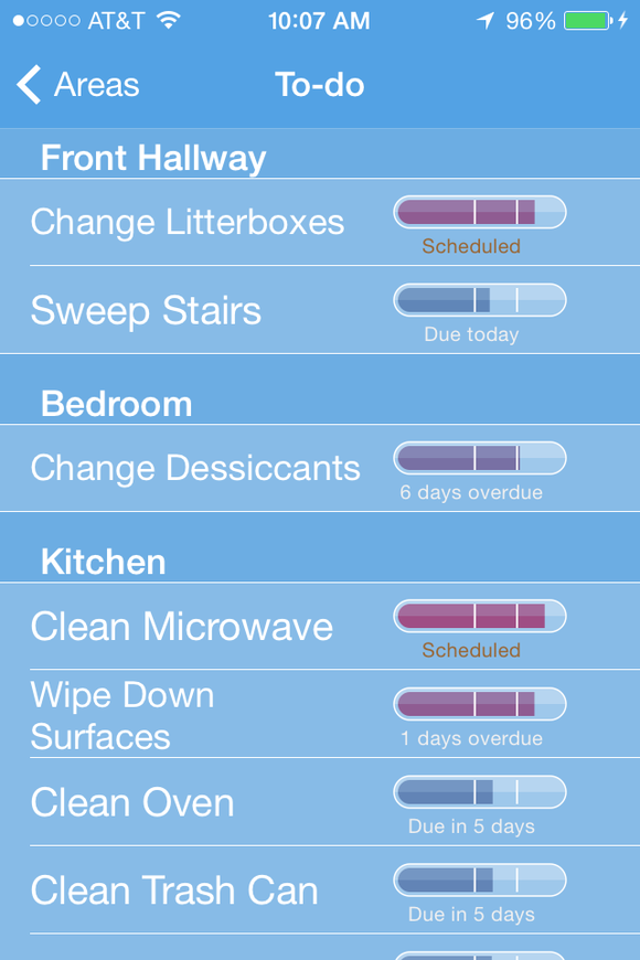 Daily Cleaning Schedule App