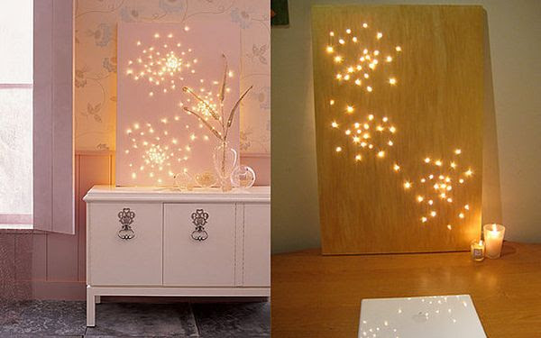 Christmas light wall art christmas ideas 50 beautiful diy wall art ideas for your home christmas light wall art constellation wall art with makedo mini cardboard christmas tree image source aloadofball Image collections