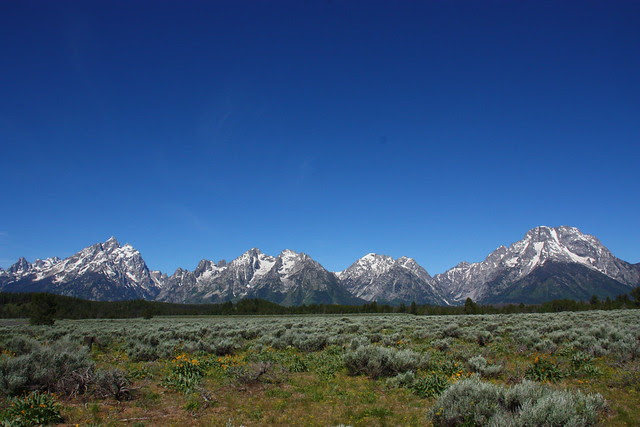 Tetons on a Clear Sunny Day