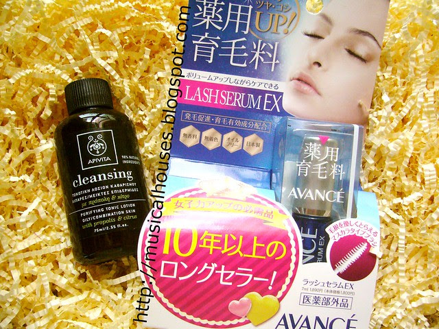 Apivita Cleansing Propolis Citrus Tonic Lotion and Avance Lash Serum EX