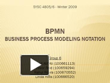 Ppt Bpmn Business Process Modeling Notation Powerpoint
