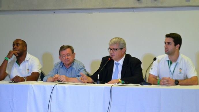 Integrantes do COL e do governo do RN falaram sobre evento-teste na Arena das Dunas (Foto: Jocaff Souza)