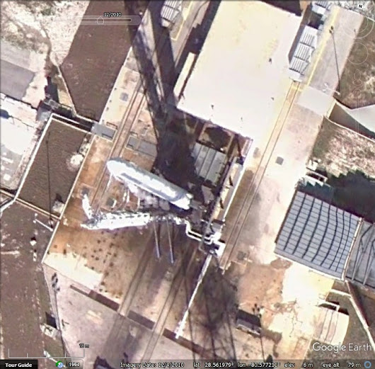 Seconds from launch? A prepped rocket on the launchpad - Google Earth Blog
